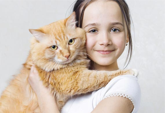 Cách trị bệnh điếc ở Mèo - girl hugging cat