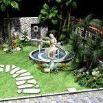 Một số nguyên tắc thiết kế tiểu cảnh nước trong vườn