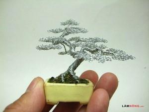 Cách uốn cây bonsai làm từ dây siêu đơn giản - cay bonsai lam tu day uon1 300x225