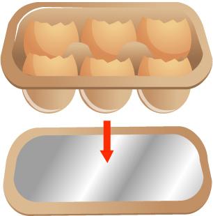 Cách trồng cây trong vỏ trứng - place the planted part of the carton atop the aluminum foil step 14
