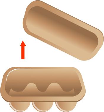 Cách trồng cây trong vỏ trứng - remove the lid of an empty cardboard egg carton step 1