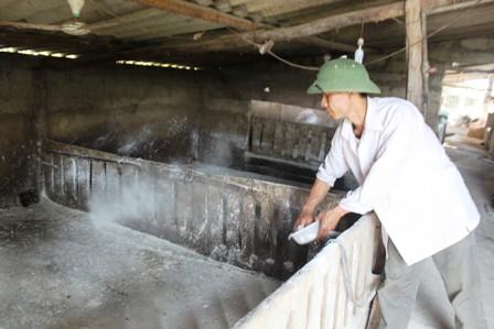 Một số loại thuốc sát trùng, tiêu độc sử dụng trong chăn nuôi - voi bot 2 jpg